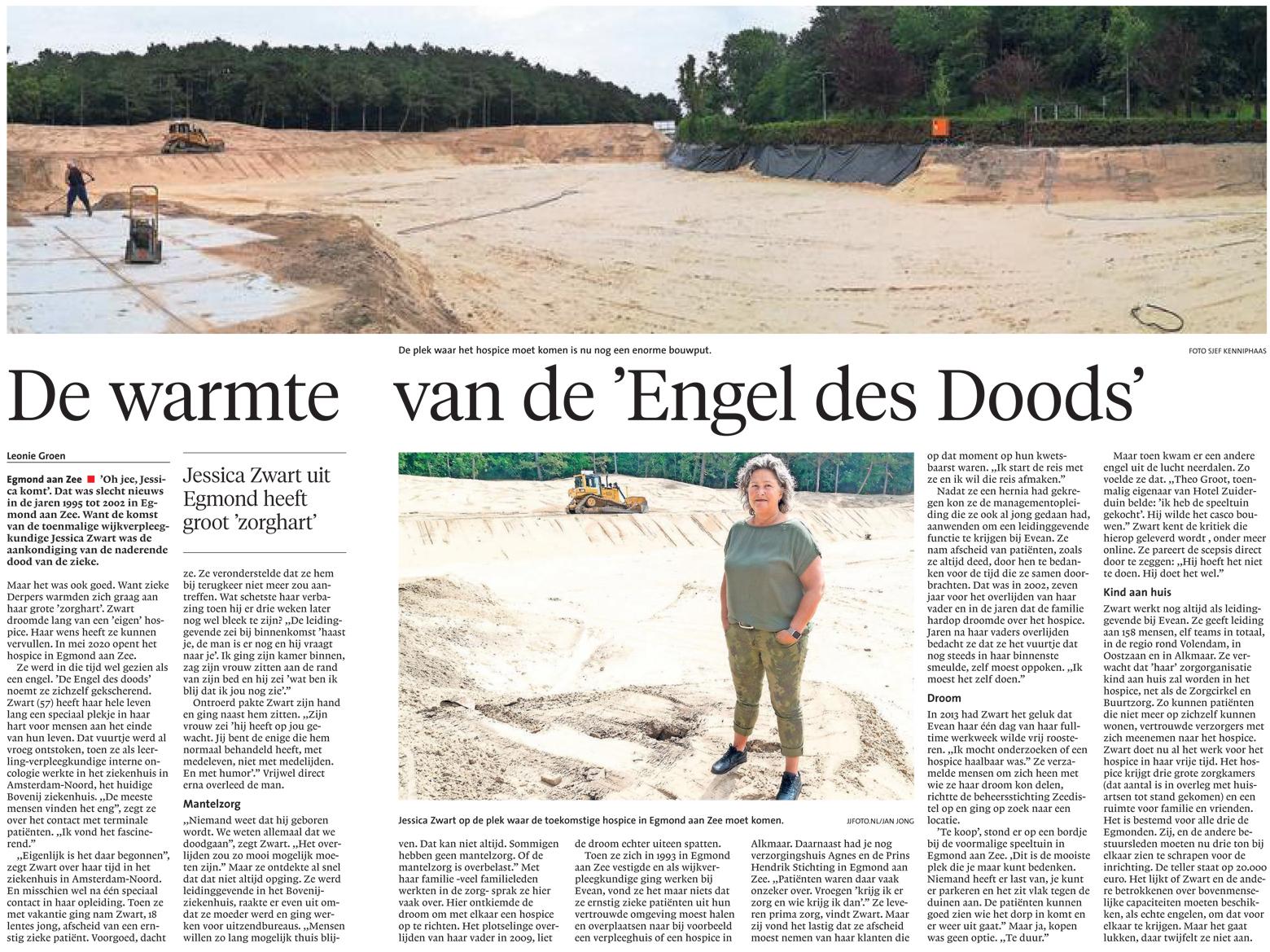 Alkmaarsche Courant Jessica Zwart Hospice Egmond Stichting Zeedistel